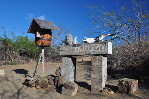 what is the best galapagos island to visit post office