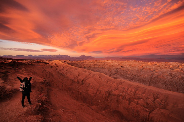 atacama moon valley sunset