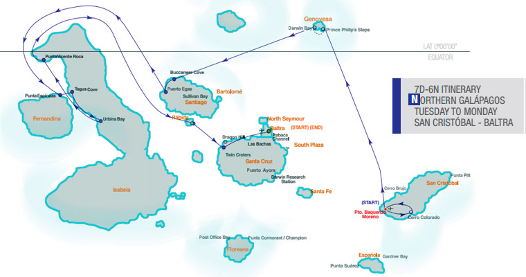Isabela II Itinerary Map - 7 Days Northern Islands