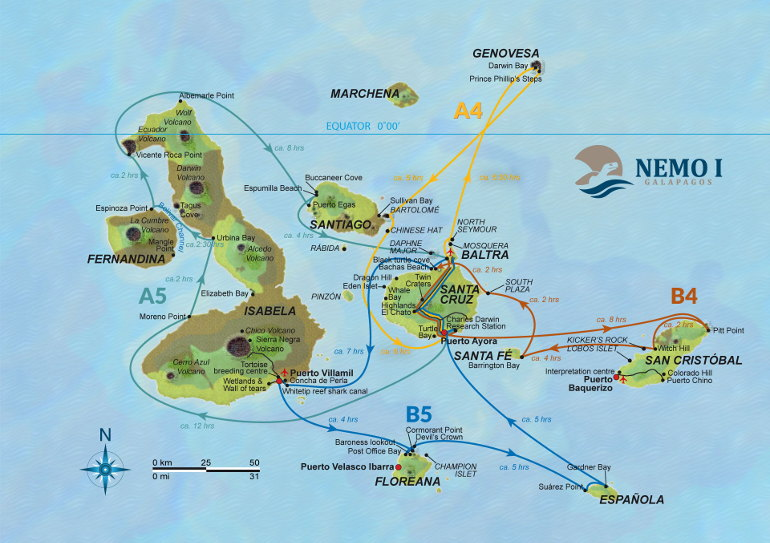 Nemo Itinerary Map