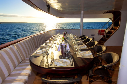 Odyssey Yacht Outdoor Dining Area