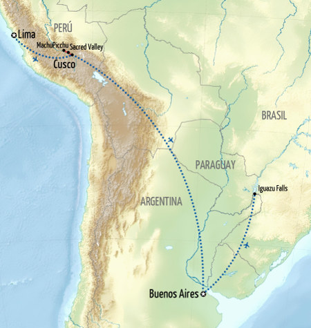 b=Best of Peru and Argentina Holiday Map