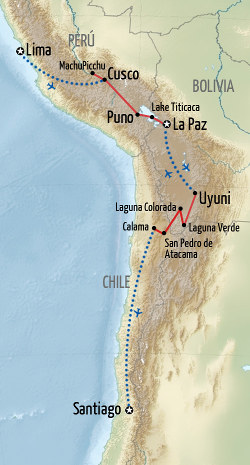 Crossing The Altiplano Holiday Map