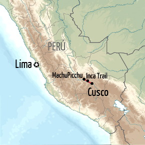 Cusco and Inca Trail Holiday Map