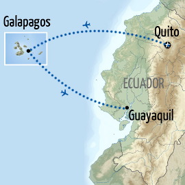 Galapagos Holiday Map