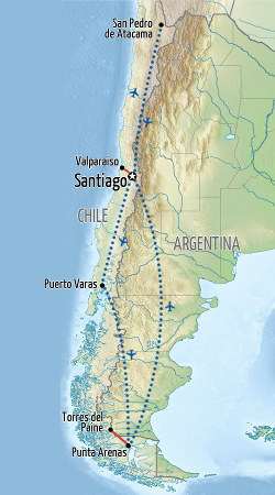 Highlights of Chile Map