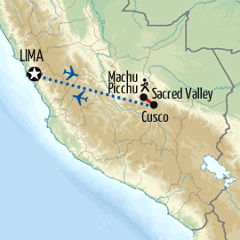 Lima, Cusco and Inca Trail Experience Map