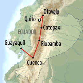 Taste of Ecuador Holiday Map